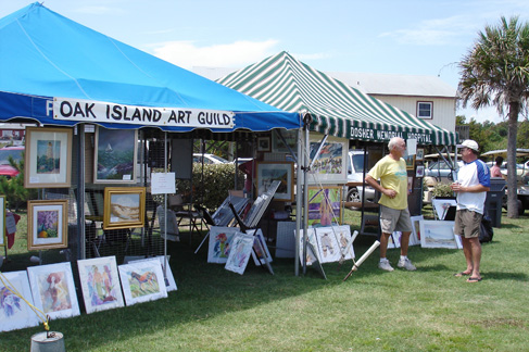 Oak island art guild annual arts crafts festival ocean for Myrtle beach arts and crafts festival