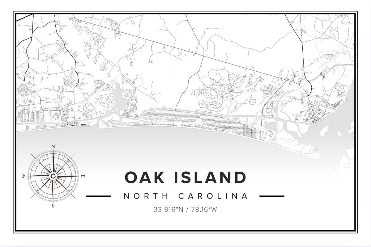Oak Island Nc Map Oak Island Nc Vacation Guide To Oak Island Nc