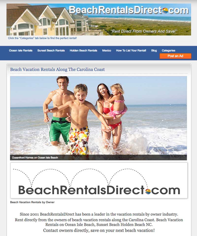 BeachRentalsDirect.com Oak Island NC Vacation Rentals By Owners
