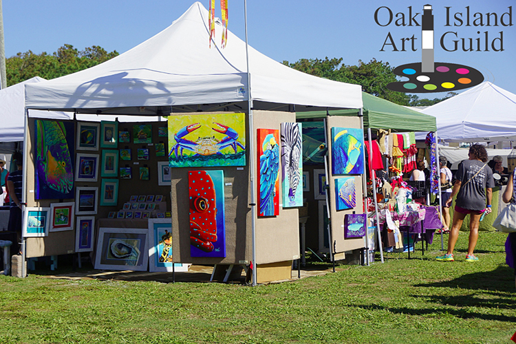 Oak Island Art Guild Annual Arts Crafts Festival Aug 31st Oak Island Nc Vacation Guide To Oak Island Nc