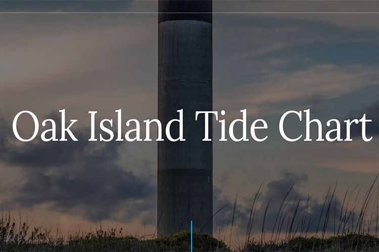 tide chart for oak island nc